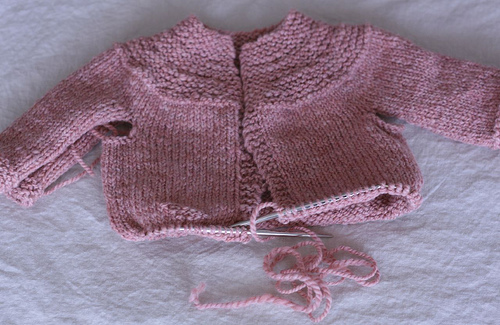 the baby sweater that will never be.