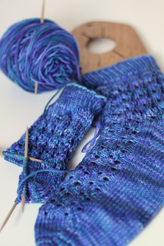 waterfall socks in progress