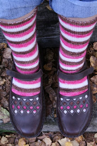 stripey socks and shoes