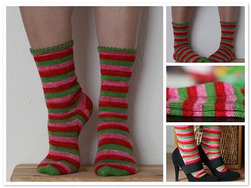 aquamelon socks mosaic